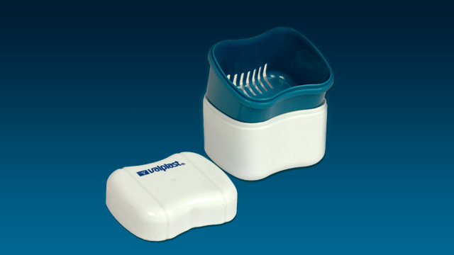 Valplast Flexible Denture Cleaning Container